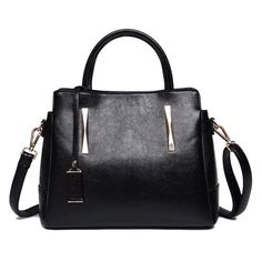 Pendant Metal Embellished PU Leather Handbag ($22) ❤ liked on Polyvore featuring bags, handbags, shoulder bags, shoulder handbags, hand bags, man bag, embellished handbags and metal purse