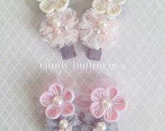 Broche de encaje bebé broche cinta para la por candybuttonusa