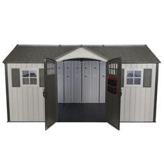 x 8 ft. Garden Building - The Home Depot Outdoor Storage Sheds, Shed Storage, Resin Sheds, Cheap Sheds, Steel Trusses, Shed Homes, Garden Buildings, Innovation Design, Curb Appeal
