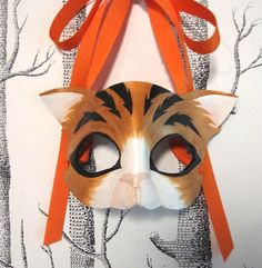 Cat Leather Mask Adult Size  Made to Order by SundriesAndPlunder, $70.00