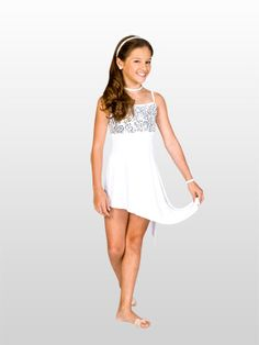 CHILD ASYMMETRICAL CAMISOLE DRESS - A lovely dance dress for all ages. $35.95