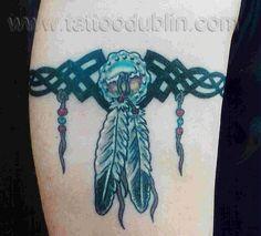 Native American Dream Catchers Tattoos | native american feathers and beads tattoo tat native american indian