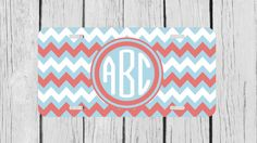 Personalized Monogrammed Chevron Pink Light Blue by TopCraftCase