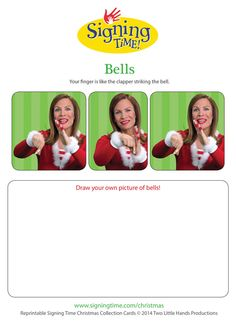 Bell - Twelve Signs of Christmas! Sign Language For Toddlers, Business Facebook Page, Bell Pictures, Asl Signs, American Sign Language, Communication, Learning, Christmas, Baby