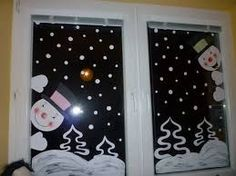2017 year for preschool wall, window decorations and cell phones, school twins - Christmas Window Decorations, Christmas Window Display, Christmas Crafts To Make, Kids Christmas, Theme Noel, Diy Weihnachten, Classroom Decor, Barn, Christmas Door