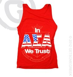 Alpha Sigma Alpha Tanks - Amanda   Now Available for Individual Purchase!! $25.50 #America