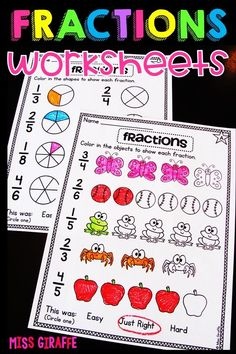 Fractions in First Grade Fractions Worksheets, Small Group Activities, Math Concepts, First Grade, Small Groups, Early Childhood, About Me Blog, Letters, Education