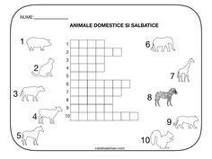 Rebus. Animale domestice si animale salbatice. Model color si alb-negru. Kids Education, Logo, Early Education, Logos, Environmental Print