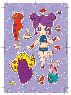 きせかえキャラ「アジアンビューティ」 * 1500 free paper dolls at Arielle Gabriel's The International Paper Doll Society and also free paper dolls at The China Adventures of Arielle Gabriel *