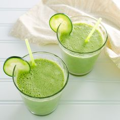 Packed with nutritious plant-based ingredients - including avocado, spinach and hemp seeds - this cucumber ginger smoothie is clean, light and creamy.