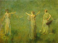 The garland - Thomas Wilmer Dewing