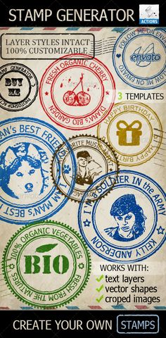 Rubber Stamp Generator Photoshop Action - GraphicRiver Item for Sale