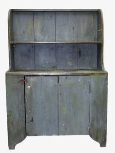 Buy online, view images and see past prices for C OPEN TOP STEPBACK CUPBOARD. Invaluable is the world's largest marketplace for art, antiques, and collectibles. Primitive Country Homes, Primitive Bedroom, Primitive Furniture, Primitive Antiques, Country Furniture, Country Decor, Country Blue, Primitive Decor, Vintage Farmhouse Decor