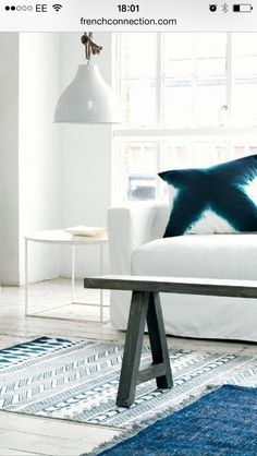 White with a hint of blue - French Connection Home