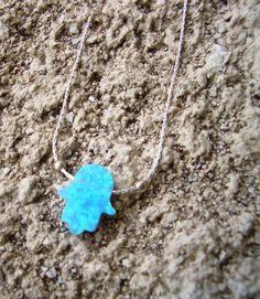 Blue Opal Hamsa