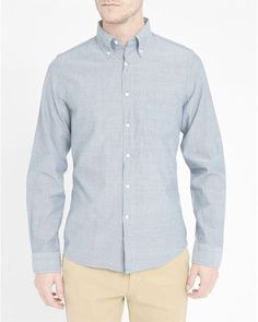 Gant Rugger Men's 'Indigo Madras' Light Blue L/S Slim-Fit Shirt Medium NWT $125 #GantRugger #ButtonFront
