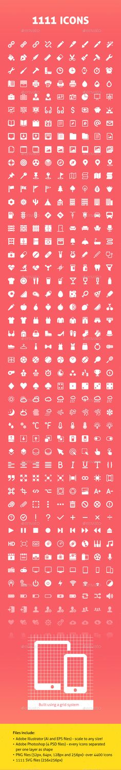 1111 Vector Icons — Photoshop PSD #ui #navigation icons • Available here → https://graphicriver.net/item/1111-vector-icons/10978988?ref=pxcr