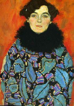 Portrait Of Johanna Staude Gustav Klimt Date: 1917-1918 Style: Art Nouveau (Modern) Period: Late works Genre: portrait Dimensions: 50 x 70 cm Location: The Österreichische Galerie Belvedere, Vienna, Austria