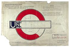 1925: Edward Johnston's instructions for the correct proportions of the redesigned Underground bullseye to incorporate the new typeface | A Brief Pictorial History of the London Tube and Its Graphic Legacy via Brain Pickings #typography