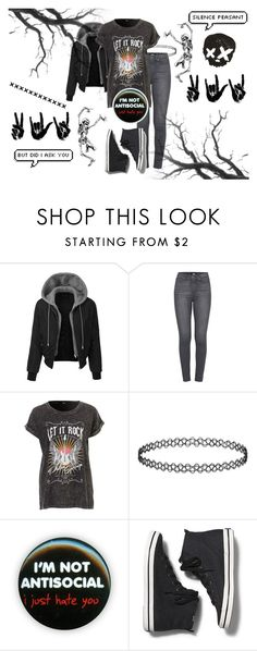 """Let It Rock"" by xxonyx-lightwaterxx ❤ liked on Polyvore featuring LE3NO, Paige Denim and Keds"