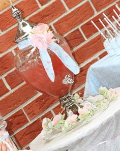 Shabby Chic First Birthday ~ Apothecary Drink Jar