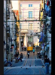 Elevador da Bica - Lisbon,  Portugal. I should have had a board just for Portugal. This road has the BEST shoe shops!
