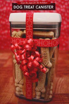 Holiday Gift Idea: DIY Dog Treat Canister via @sheenatatum #ad #treatthepups