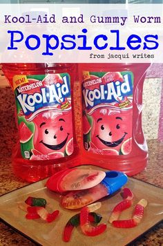 Kool-Aid and Gummy Worm Popsicles #shop #KoolOff  (1)