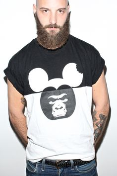t-shirt - mouse monkey! DAVID! Bran Shirt Partamallit 4eb0d38f8e
