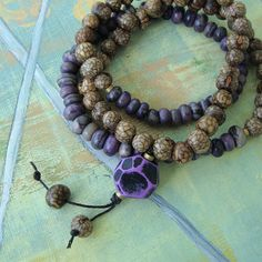 lavender crackle 108 bead mala#Repin By:Pinterest++ for iPad#