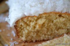 Coconut pound cake (evaporated milk, coconut extract, milk, shredded coconut)