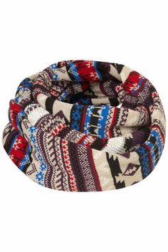 Aztec Fairisle Snood - Scarves