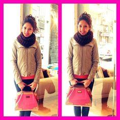 Tüm gün içerde olmanın verdiği can havliyle cıktık sokaklara :)) #today #my #combine #pink ;)
