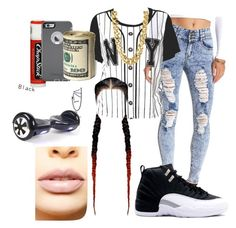 """stuntin on b!tches"" by my-savage-self ❤ liked on Polyvore featuring Charlotte Russe, CC SKYE, Chapstick, OtterBox, LASplash, women's clothing, women, female, woman and misses"