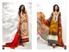 Sadia lawn collection 2013 by Atif Yahya