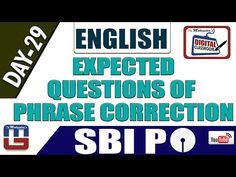 EXPECTED QUESTIONS OF PHRASE CORRECTION   ENGLISH   DAY - 29   DIGITAL C...