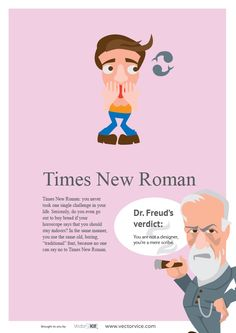 Times New Roman Font Infographic Dr. Freud #TimesNewRoman #Font #Infographic #inspiration #designer #design