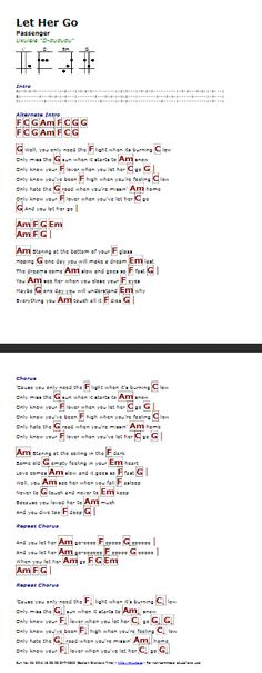 Let Her Go Lyrics And Chords Ultimate Guitar Images
