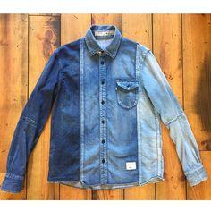 #bluesakura is our brand of the week and they offer some amazing stuff in denim such as this CRAZZY denim shirt!! #Denimio #denim #denimhead #denimfreak #denimlovers #jeans #selvedge #selvage #selvedgedenim #japanesedenim #rawdenim #drydenim #worndenim #fadeddenim #menswear #mensfashion #rawfie #denimporn #denimaddict #betterwithwear #wabisabi