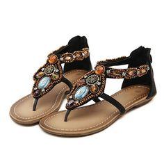 8b5fca98ed40 Bohemian Sandals Flat With Sandals Female Flat Female Summer Women Shoes