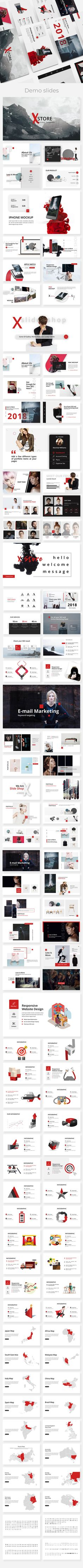 Xstore Minimal Powerpoint Template - Creative PowerPoint Templates