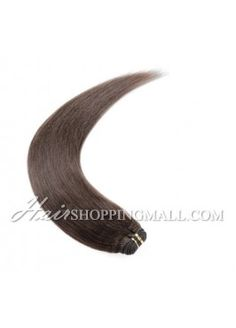 "#4 10""-24"" Indian Remy Hair Wefts Extensions Yaki [WT4YK]"