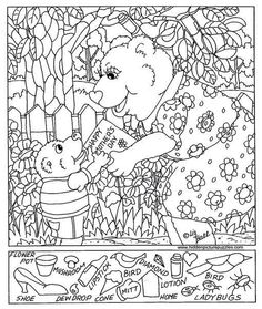Hidden Object Puzzles, Hidden Picture Puzzles, Hidden Object Games, Hidden Objects, Find Objects, Free Coloring Pages, Printable Coloring Pages, Coloring For Kids, Coloring Sheets