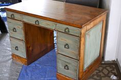 Built by Habitant Knotty Pine furniture in the 50 s upcycled by Shabby Daze in 2012 -