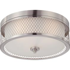 NUVO 60-4691 | 3-Light Dome Flush Mount Light Fixture | Fusion Collection | NUVO Lighting