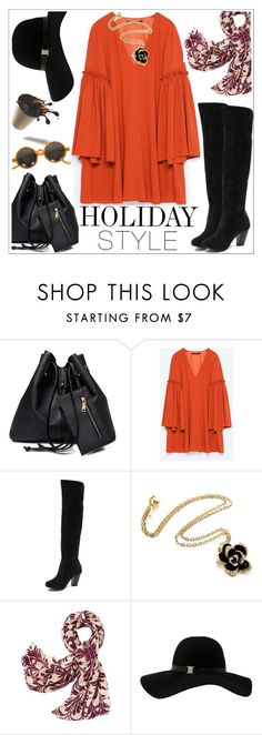 """""""Holiday style"""" by teoecar ❤ liked on Polyvore featuring Zara, Tory Burch, Armani Exchange, holidaystyle and oversizeddress"""