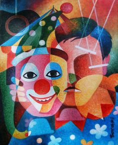 Buy Prints of Clown, a Acrylic on Canvas by Thomas Ouseph from India. It portrays: People, relevant to: Clowns are essential part of, circus like animals, they make fun and happiness to, the spectators with their inte, ligent gimmicks.but behind, that smiling face lot of, hardship and pain there but we, are not aware of that. Different Faces
