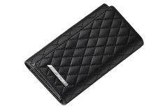 Black key wallet in lambskin with diamond-pattern topstitching. Key Wallet, The Black Keys, Diamond Pattern, Chanel, Shoulder Bag, Bags, Handbags, Shoulder Bags, Bag