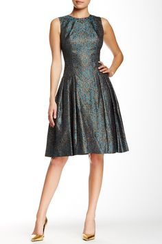 Its all about the Metallic Print Dress!