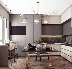 Modern Luxury Kitchens For A Grand Kitchen Kitchen Room Design, Best Kitchen Designs, Interior Design Kitchen, Kitchen Decor, Living Room Kitchen, Kitchen Dining, Luxury Kitchens, Home Kitchens, Küchen Design